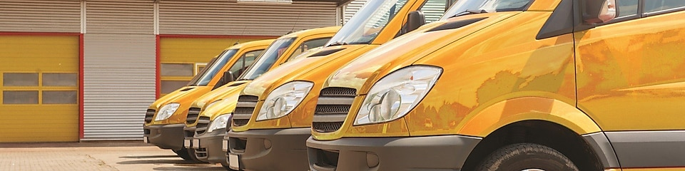 yellow Fleet Card Vans